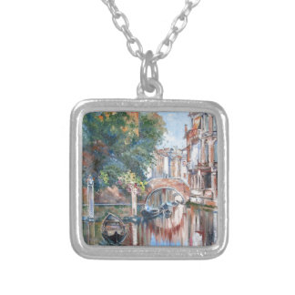 Venice canals silver plated necklace