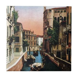 Venice canals, VIntage image Tile