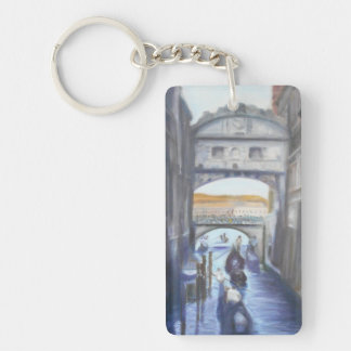 Venice Canals with Gondolas Keychain