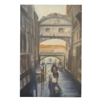 Venice Canals with Gondolas Wood Wall Art