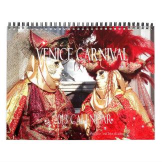 Venice Carnival 2013 Calendar