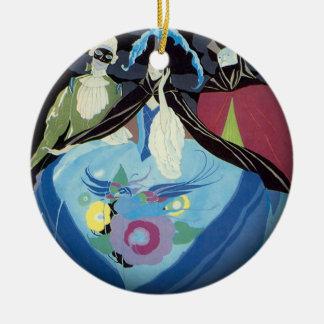 Venice Carnival Circle Ornament