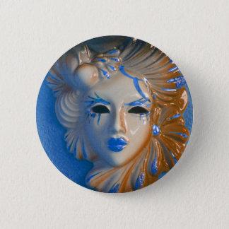 Venice Carnival Mask 2 Inch Round Button