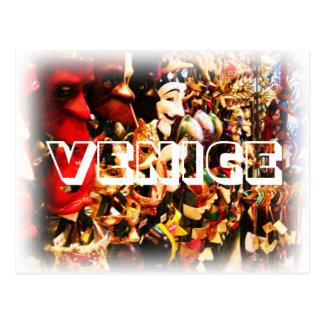 Venice Carnival Mask Postcard