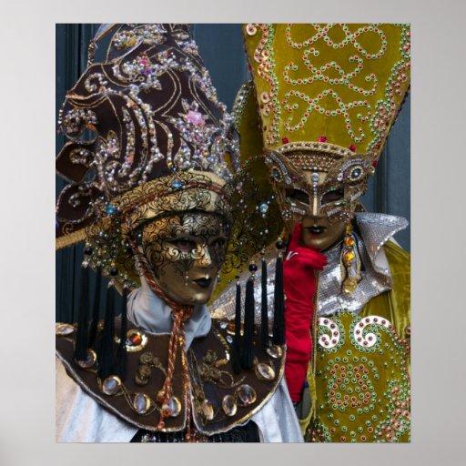 Venice Carnival Masks II Poster