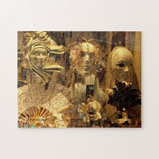Venice Carnival Masks Puzzle Horizontal