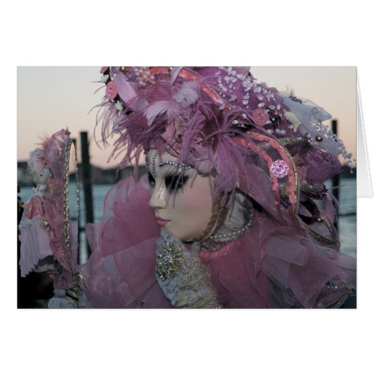 Venice Carnival XIV Card