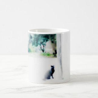 venice cat white basic white mug