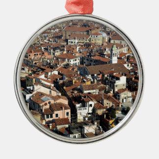Venice City Skyline Metal Ornament