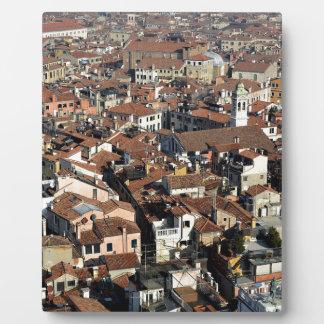 Venice City Skyline Plaque
