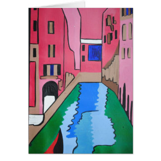 Venice Colourful Card