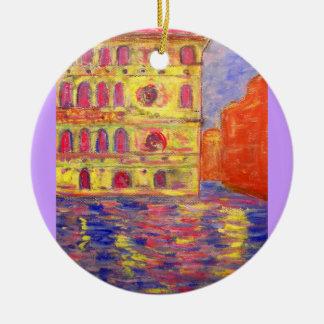 venice colourful palazzos ceramic ornament
