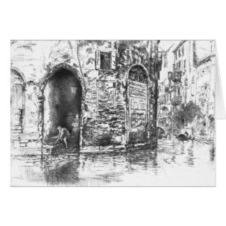 Venice Doorways 1880 Card