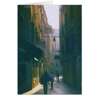 Venice Early Morning View of Alleyway Card