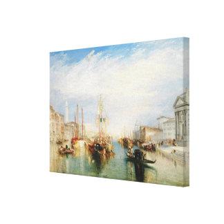 Venice, from the Porch of Madonna della Salute Canvas Print