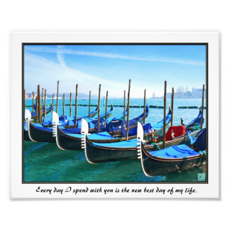 Venice Gandola with Love Quote Photo Art