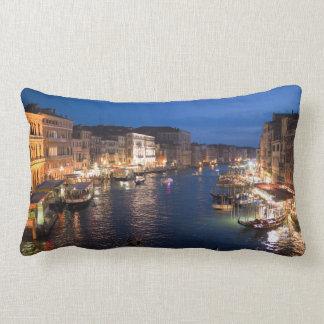 Venice Gandolas Italy Night Scenery Lumbar Pillow