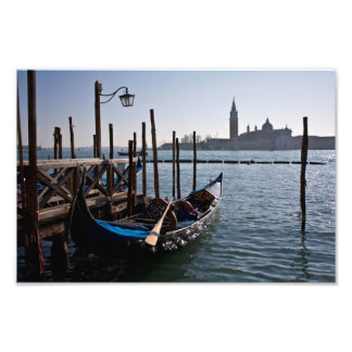 Venice gondolas art photo