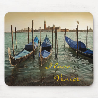 Venice gondolas mouse pad