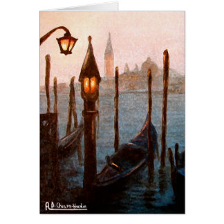 Venice gondole greeting card