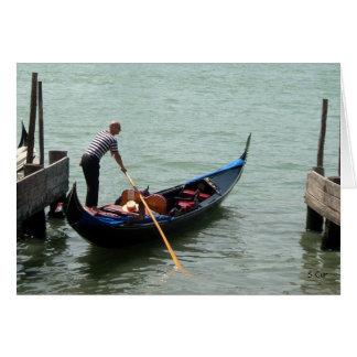 Venice Gondolier, S Cyr Card