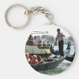 VENICE GONDOLIERS ON THE GRAND CANAL KEYCHAIN