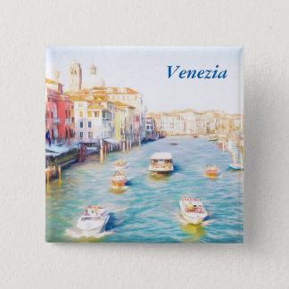 Venice Grand Canal 2 Inch Square Button