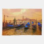 Venice Grand Canal & Gondolas Italy Travel Artwork Kitchen Towel