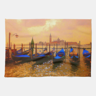 Venice Grand Canal & Gondolas Italy Travel Artwork Kitchen Towel