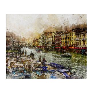Venice grand canal, italy acrylic print