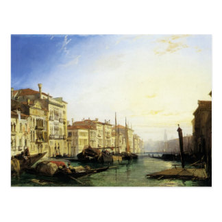 Venice Grand Canal, Sunset by Richard Bonington Postcard