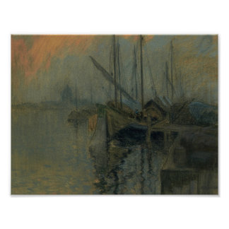 Venice Harbour by Maurice Galbraith Cullen Poster