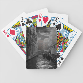 Venice in Black and White Bicycle Playing Cards