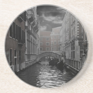 Venice in Black and White Coaster