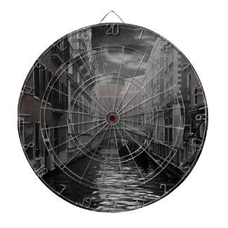 Venice in Black and White Dartboard