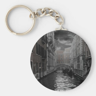 Venice in Black and White Keychain
