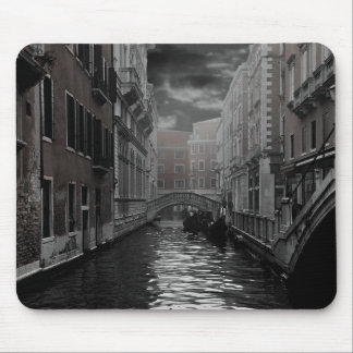 Venice in Black and White Mouse Pad