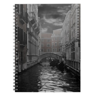 Venice in Black and White Spiral Notebook