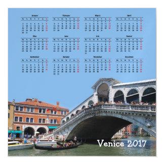 Venice, Italy 2017 calendar Magnetic Invitations