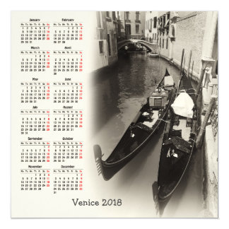 Venice, Italy 2018 calendar Magnetic Invitations