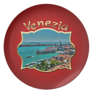 Venice, Italy - Aerial View Party Plates