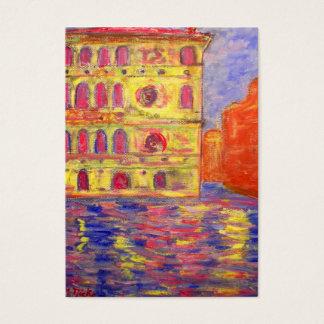 venice italy art business card