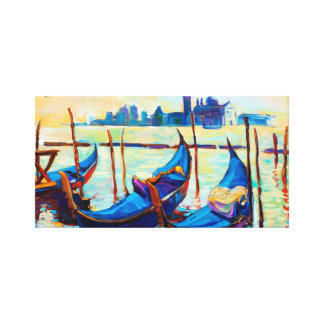 Venice, Italy at sunset Canvas Print