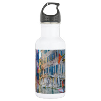 Venice Italy Boats in the Grand Canal 532 Ml Water Bottle