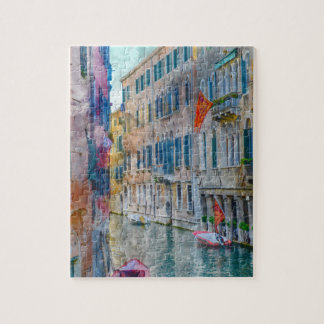 Venice Italy Boats in the Grand Canal Jigsaw Puzzle