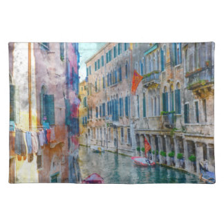 Venice Italy Boats in the Grand Canal Placemat