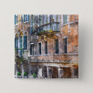 Venice Italy Buildings 2 Inch Square Button