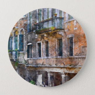 Venice Italy Buildings 4 Inch Round Button