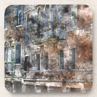 Venice Italy Buildings Beverage Coaster