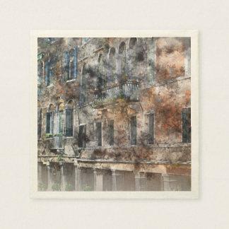 Venice Italy Buildings Disposable Napkin